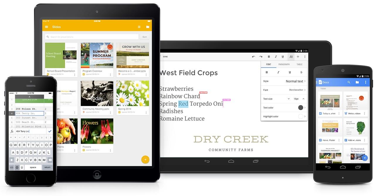 Ueb aplikacionet Google Docs, Slides dhe Sheets vinë me një dizajn të ri