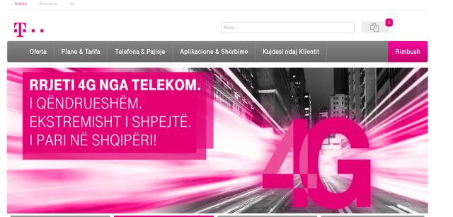 Ribrandimi i AMC në Telekom drejt finalizimit. Operatori lançon uebfaqen me brendin e Telekom