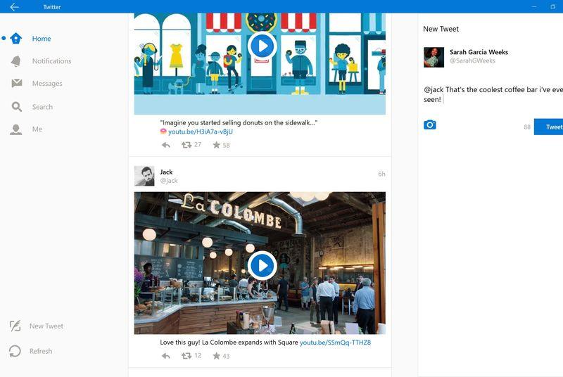 Aplikacioni i rrjetit social Twitter së shpejti me një ndërfaqe të re në Windows 10