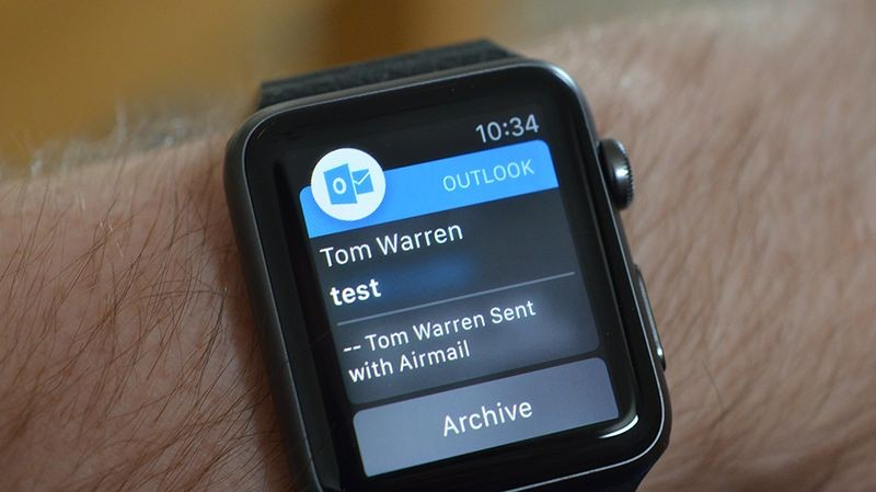 Microsoft sjell aplikacionin e postës elektronike Outlook Apple Watch