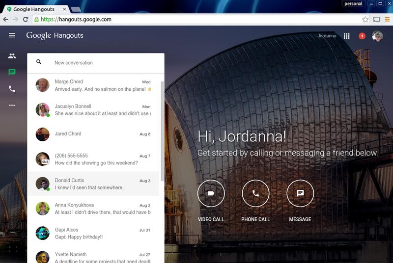Google sjell shërbimin Hangouts edhe në ueb