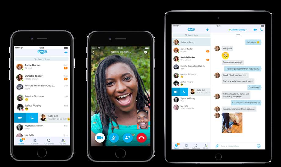 Microsoft ridizenjon aplikacionin Skype në Android dhe iOS