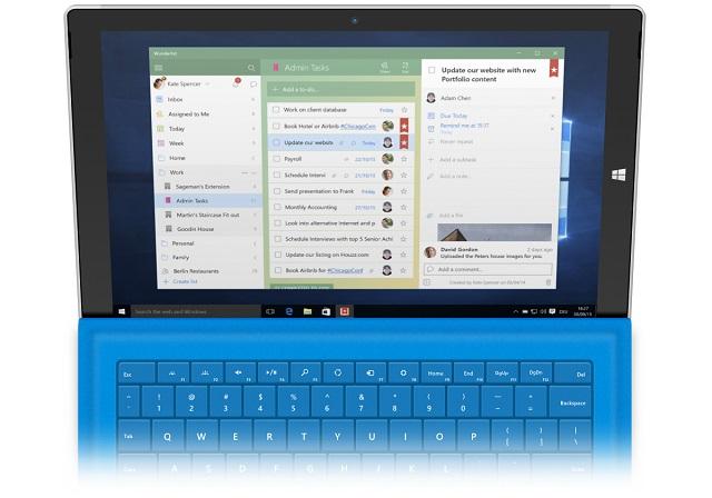Microsoft publikoi aplikacionin e ri të Wunderlist për Windows 10