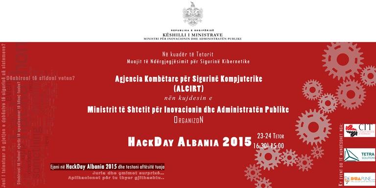 Më 23-24 Tetor Agjensia Kombëtare për Sigurinë Kompjuterike organizon evenimentin Hack Day Albania 2015