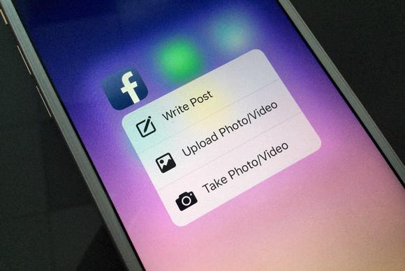 Aplikacioni Facebook në iOS është ndër të parët që shton mbështetjen për prekjen 3D