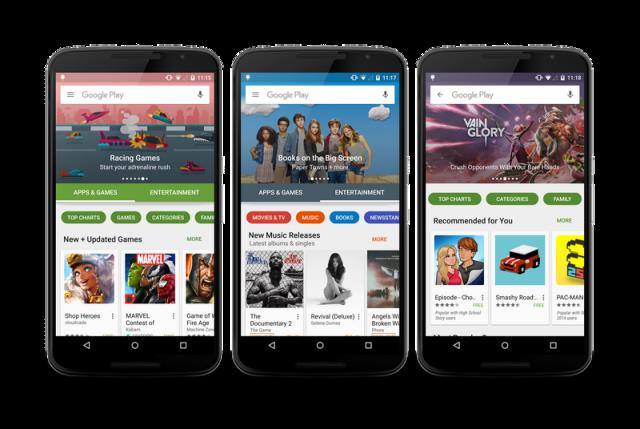Ndërfaqja e re e Google Play Store e disponueshme që nga dita e sotme