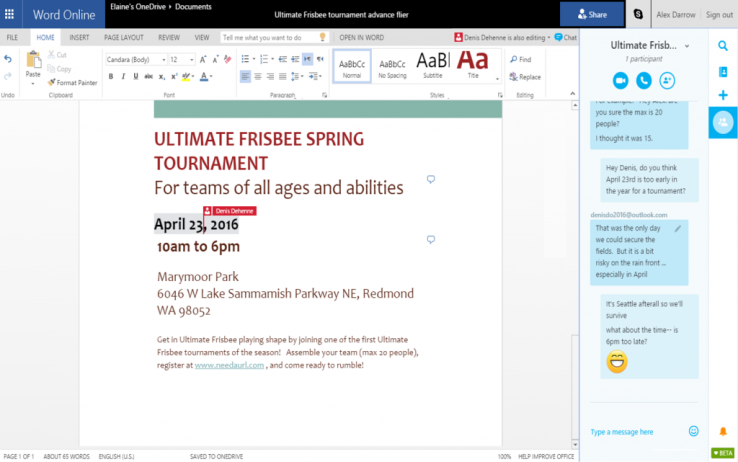 Microsoft integroi Skype me Office Online. Publikoi edhe një shtojcë Office në shfletuesin Chrome