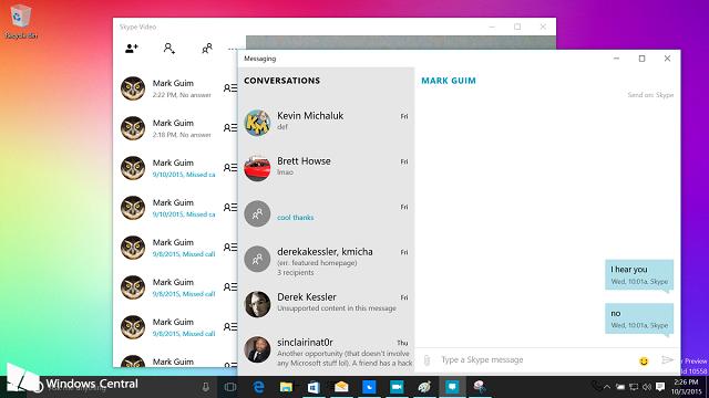 Shfaqen online detaje të ndërtimit 10558 të Windows 10. Sjell aplikacionet e reja Messaging dhe Skype