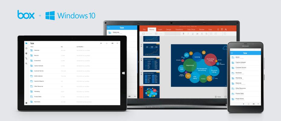 Box publikoi aplikacionin e ri për Windows 10-tën