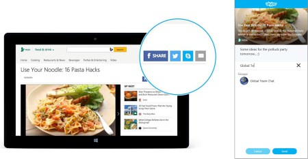 Skype publikoi një buton shpërndarjeje të përmbajtjeve në ueb
