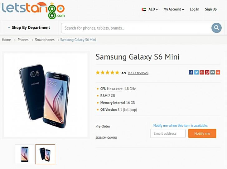 Listohet Galaxy S6 Mini me ekran 4.6 inç në uebfaqen e një distributori online