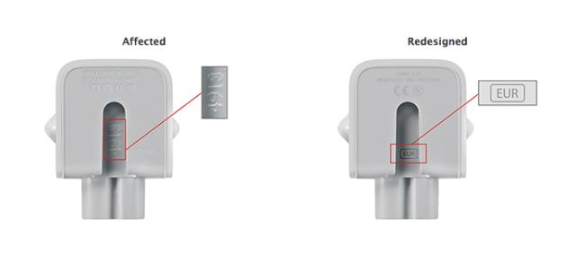 Apple tërheq nga tregu disa përshtatës elektrik të shitur në Europë
