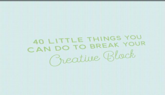 40 këshilla për të mbajtur të gjallë kreativitetin tuaj (Infografik)