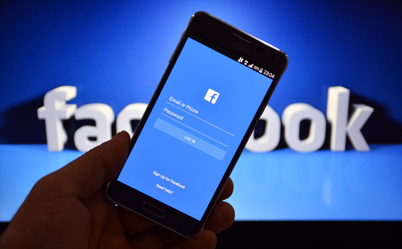 facebook-on-android-stock-image
