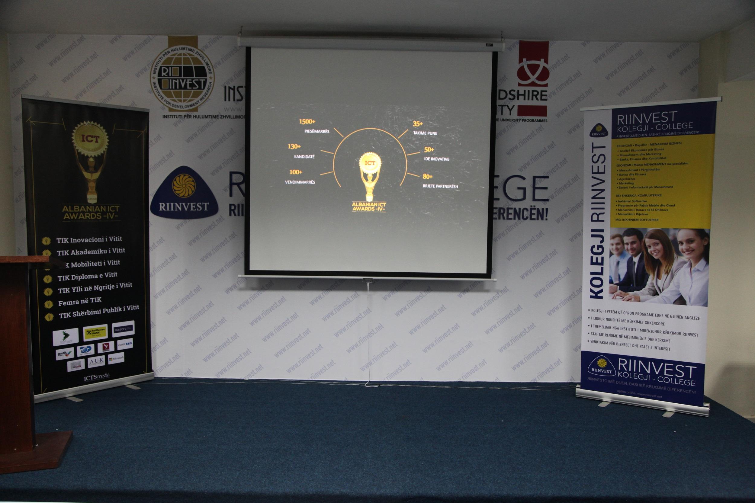 Rrugëtimi i Albanian ICT Awards IV vijoi me takimin e radhës me studentët e Kolegjit RIINVEST