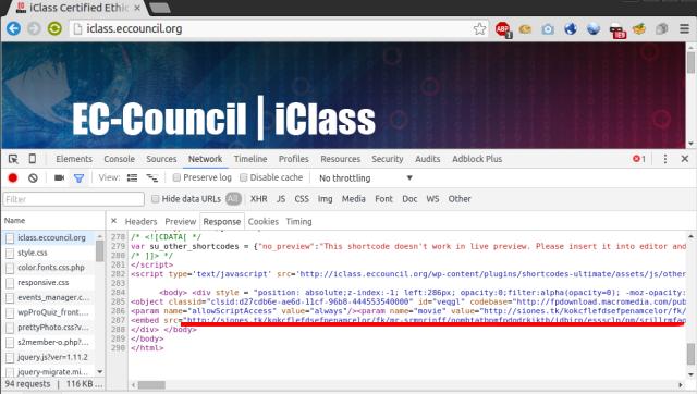 Uebfaqja e organizatës së çertifikimit të hakerëve etik, EC-Council, kapet duke shpërndarë maluer