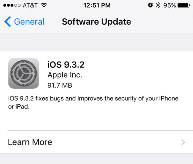 Apple publikoi iOS 9.3.2 duke adresuar problemet me aksesorët Bluetooth në iPhone SE
