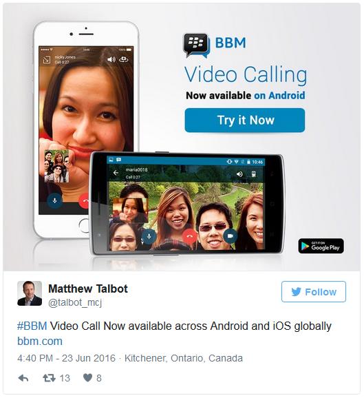Video thirrjet në BBM të disponueshme globalisht