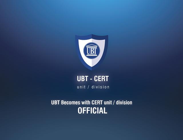 """Universiteti për Biznes dhe Teknologji zyrtarisht me """"CERT division"""""""