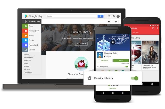 Debuton Family Library, 6 anëtarë mund të ndajnë blerjet në Play Store