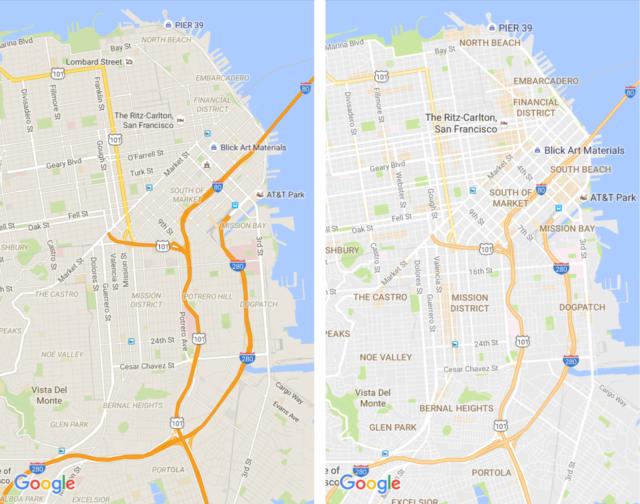 Hartat e Google Maps me një dizajn më të pastër, prezantohen pikat e interesit
