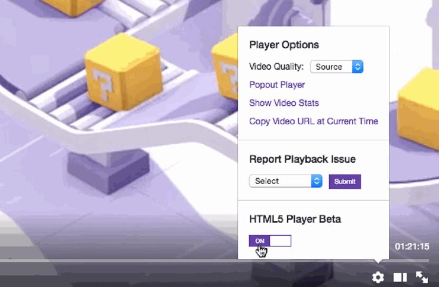 Twitch bën realitet luajtësin HTML5 të videove një vit pas prezantimit