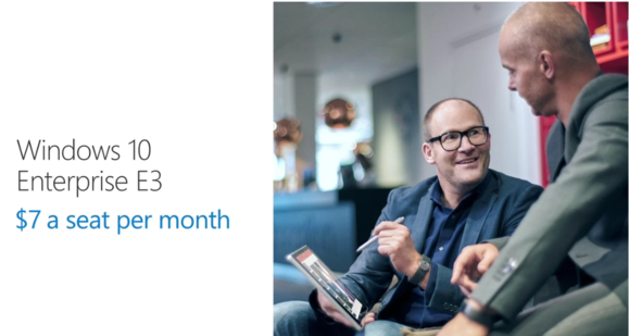 Windows 10 E3 për sipërmarrjet vjen në formën e një shërbimi, kushton 7 dollar në muaj