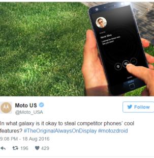 Motorola akuzon Samsung për vjedhjen e ideve