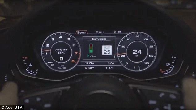 Modelet e reja të Audi A4 dhe Q7 ofrojnë informacion në kohë reale të dritave të trafikut
