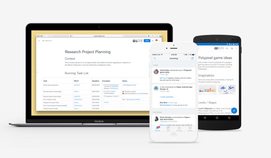 Dropbox i shpall konkurrencë Evernote me aplikacionin e shënimeve Dropbox Paper