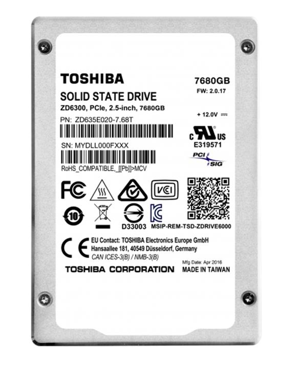 Toshiba rriti kapacitetin e SSD-ve në 7.68 Terabajt