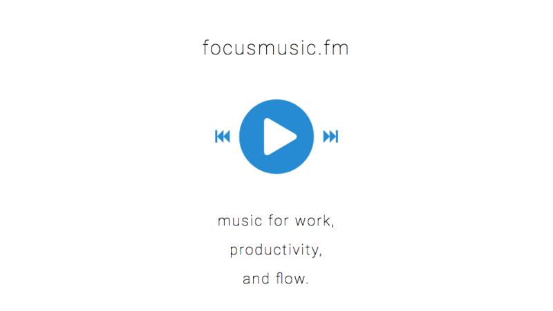 Focusmusic.fm, muzikë për punë dhe produktivitet