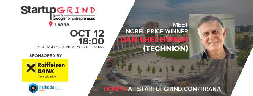 Nobelisti në Kimi Prof. Dan Shechtman vjen pranë komunitetit Shqiptar të Startup Grind