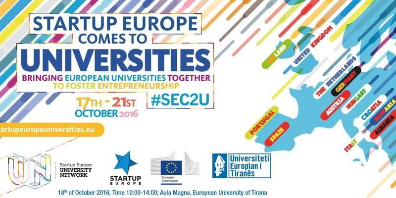 Më 18 Tetor Komisioni Europian prezanton nismën SEC2U në Universitetin Europian të Tiranës