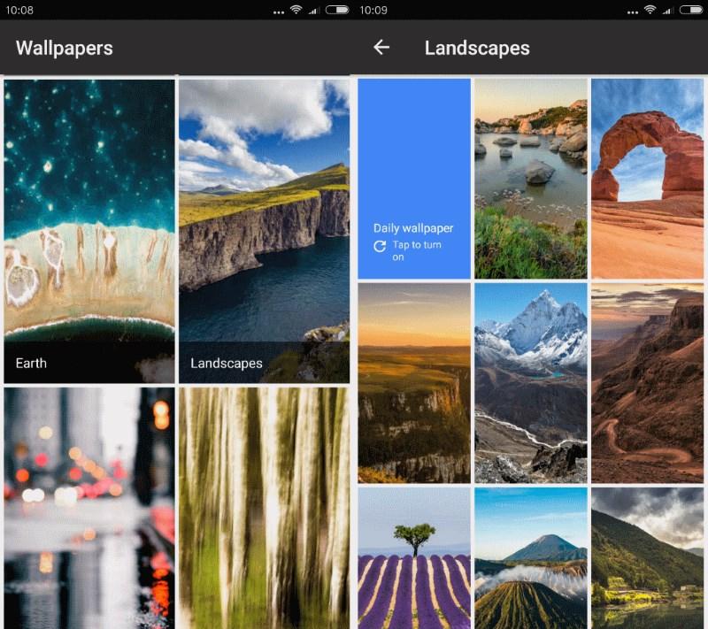 Google Wallpapers, aplikacioni më i ri i gjigandit të motorit të kërkimit në Android
