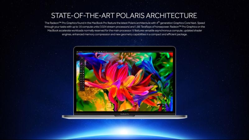 AMD detajoi kartat e reja grafike Radeon Pro 400 të përdorura në laptopët MacBook Pro