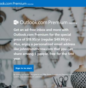 Shërbimi i ri me pagesë Outlook.com sjell mbështetje për e-mail-et e personalizuara