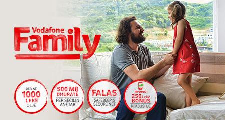"""Me """"Family"""" Vodafone sjell përfitime të shumta për abonentët Shqiptarë"""