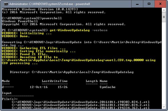 Ja sesi të analizoni gabimet e Windows Update