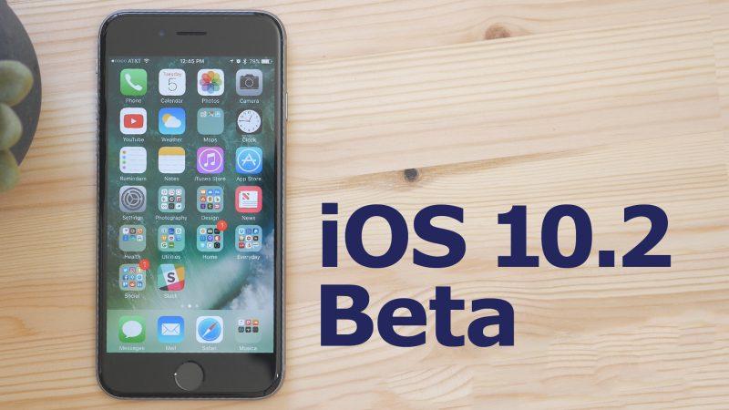 Apple publikoi betan e katërt publike të iOS 10.2