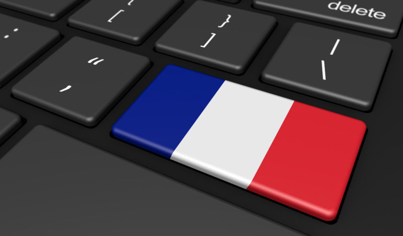 French Flag Computer Button Key
