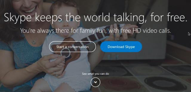 Ja sesi të filloni një bisedë në Skype pa qenë i regjistruar