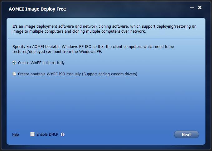 AOMEI Image Deploy është një softuer klonimi dhe vendosjeje të imazheve Windows