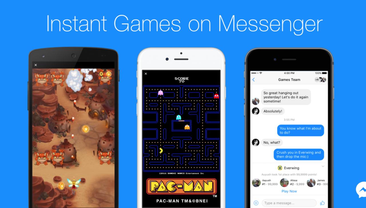 Facebook prezantoi 17 lojëra për aplikacionin Messenger