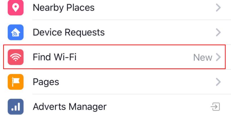 Facebook fillon ofrimin e kërkimit të rrjeteve Wi-Fi afër jush