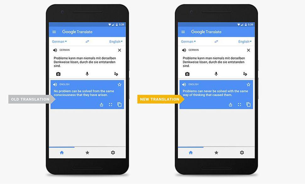 Përkthimet në Google Translate më natyrale, përmirësohet ndjeshëm sintaksa dhe gramatika