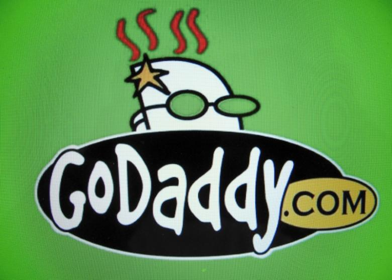 The logo for internet company GoDaddy inc is shown on a computer screen in this illustration photo in Encinitas, California May 3, 2016.      REUTERS/Mike Blake/File Photo
