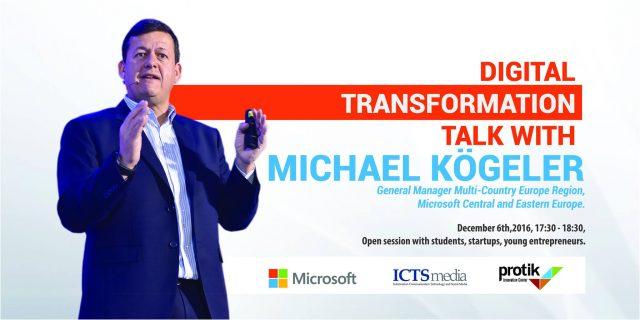 Të Marten në Protik, Digital Transformation TALK: Një takim plot inspirim me Michael Kogeler