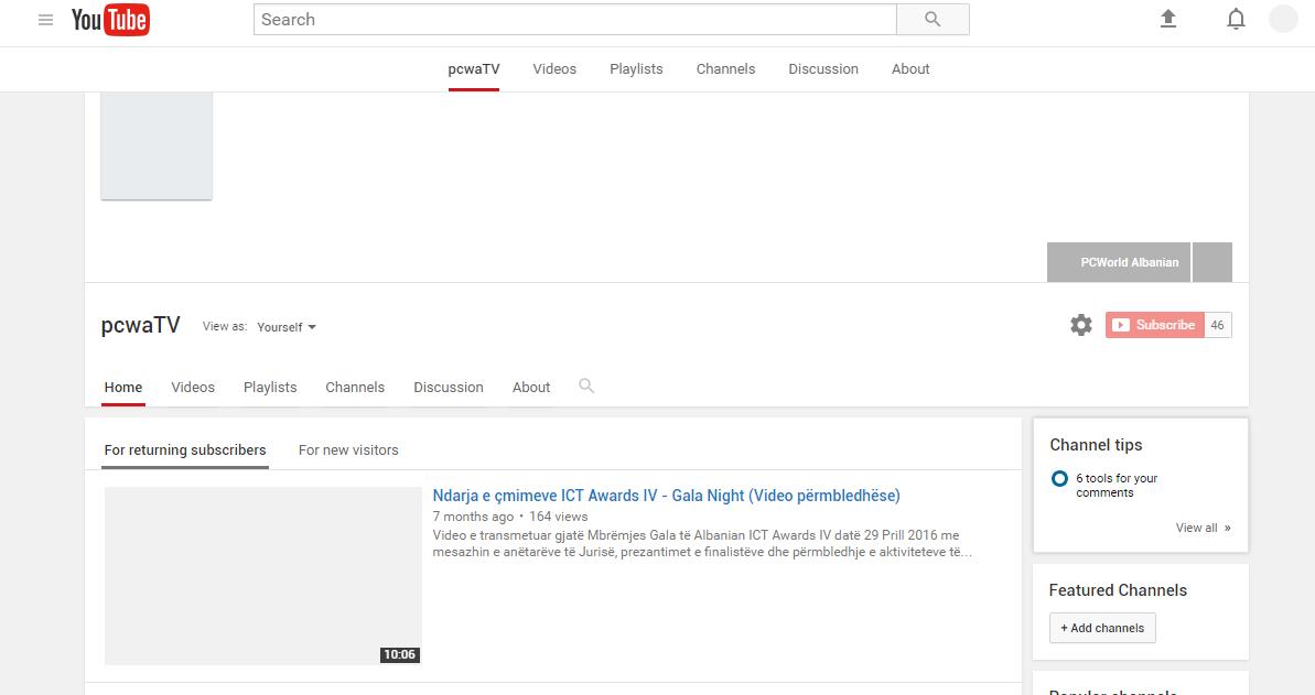Youtube probleme me uebsajtin, shikimin dhe ngarkimin e videove