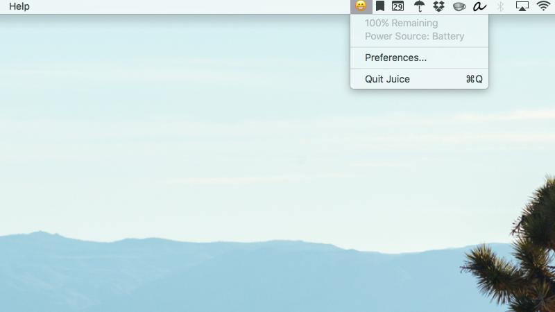 Me Juice mund të përshtatni indikatorin e jetëgjatësisë së baterisë në macOS